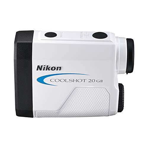 Nikon Coolshot 20 GII Golf Laser Rangefinder, With Extra Battery Kit , White with blue trim - 16744