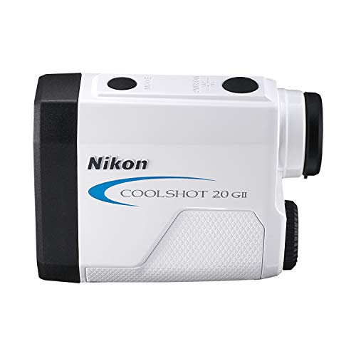 Nikon Coolshot 20 GII Golf Laser Rangefinder, With Extra Battery Kit , White with blue trim - 16744