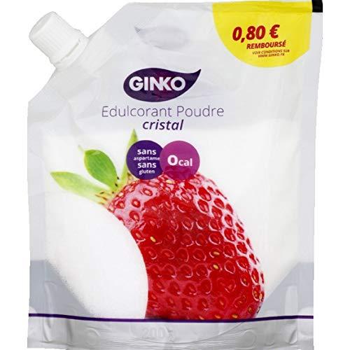 GINKO – Doypack Cristal – Poudre Édulcorante – 200g – Cuisinez Sans Calories et Sans Aspartame !