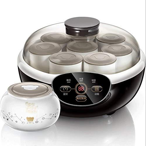 SCJ Máquina de Yogur, Forro de cerámica automático para el hogar, 8 Tazas, máquina de Vino de arroz de fermentación de Gran Capacidad multifunción Inteligente