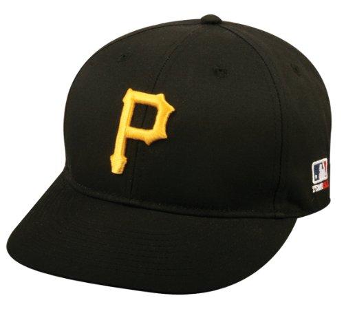 Adult FLAT BRIM Pittsburgh Pirates Home Black Hat Cap MLB Adjustable