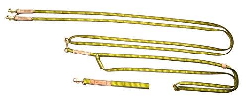 Niggeloh Hundleine Twin, Gelb/Oliv, 15 mm Breit, 1311 00025 Hundeleine, 2 m