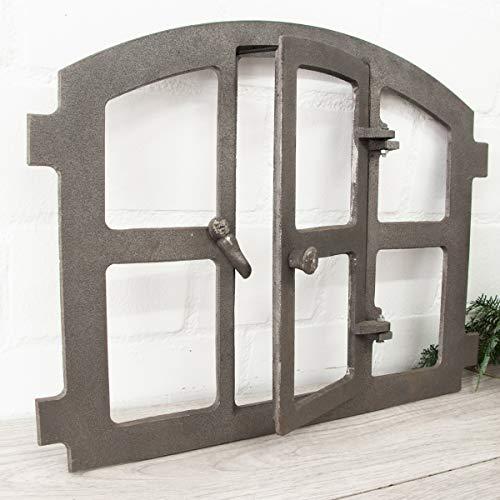 Antikas - Eisenfenster mit Tür, Stallfenster in höchster Qualität