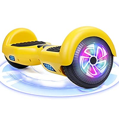 FLYING-ANT Hoverboard, 6.5 inch Self Balancing Electric Scooter with Safe UL2272 Certified, Segway for Kids and Adult, Great Gifts (Yellow-no bluetooth)