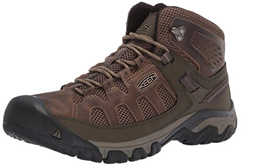 KEEN Men's Targhee Vent MID Hiking Boot, Olivia/Bungee Cord, 11.5 M US