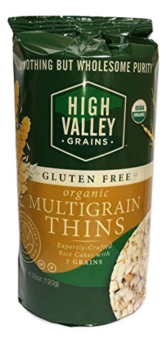 Organic Multigrain Gluten Free Rice Cakes 4.23 oz (Pack of 12). Also available in 6 pack. NOTHING BUT WHOLESOME PURITY.