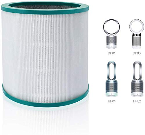 AIEVE Ersatzfilter Filter Zubehör für Dyson Pure Hot + Cool HP02/HP01/HP00 Luftreiniger,Dyson Pure Cool Link HP03/DP01/DP03 Tisch-Luftreiniger #968125-03