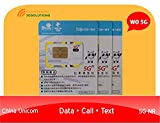 China Sim Card 30days 10GB Data  5G  + 200 Local mins + 50 Local Texts/Free Incoming Call & Text / Customer Support via WhatApps, Skype, Wechat