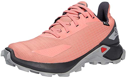 Salomon ALPHACROSS Blast CSWP J, Zapatillas de Trail Running, Rosa (Burnt Coral/Ebony/Quarry), 38 EU