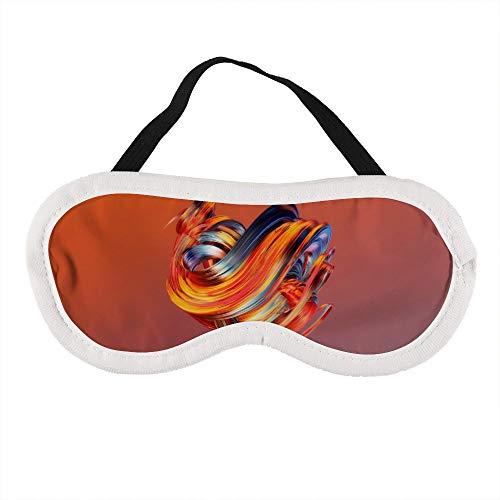 AAnshang peinture vague orange abstrait sommeil masque doux voyage yeux bandés 100% lumière bloquant confortable sommeil masque relaxation meilleur oeil nuances luxueux masque pour les yeux