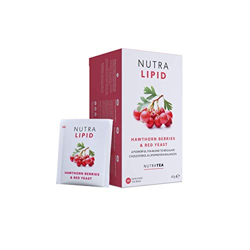 NutraLipid - Fettverbrennungstee | Lipid Care Tee | Lipoprotein Tee - hilft bei der Kontrolle des Cholesterins – 60 Verpackte Teebeutel - von Nutra Tea – Kräutertee – (3 Packung)
