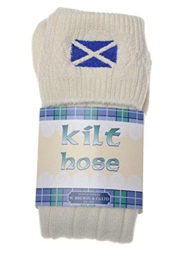 WB SOCKS Saltire bestrickte Kilt Socke - Vielzahl von Größen und Farben erhältlich