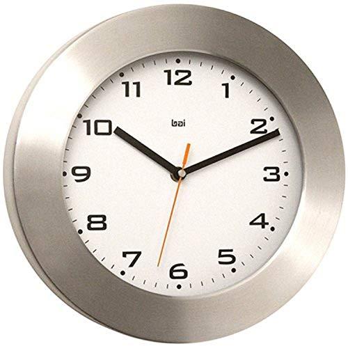 BAI Brushed Aluminum Wall Clock, Gotham