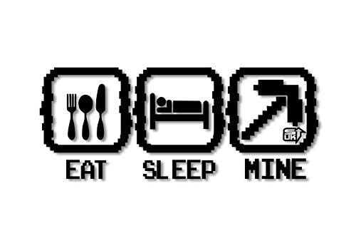 EAT, SLEEP, Mine, Kinder Schlafzimmer, Play Vinyl Wand Aufkleber (57 x 23 cm)