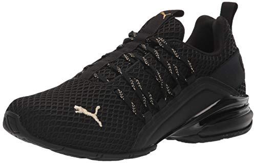 PUMA Men's Axelion Sneaker, Black Team Gold, 13 M US