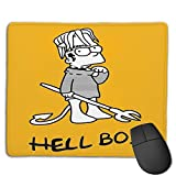 Lil Peep Hellboy Bart Simpson Mouse Pad Gaming Non-Slip Rubber Mousepad, Working Or Game 8.6 X 7inch