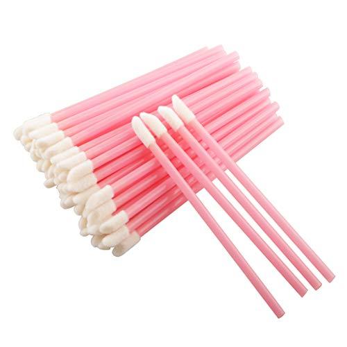 200 Pcs Lip Brushes Disposable Lipstick Make Up Brush Gloss Wands Applicator Tool Makeup Beauty Tool Kits (Pink)