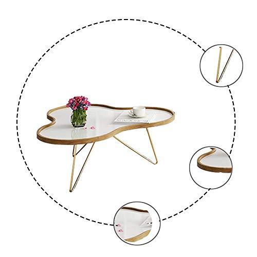 Tavolino in Stile Nordico Americano Tavolino da Salotto Moderno Divano tavolino Superficie in Cemento Foglia Petalo Tavolo da tè in Metallo