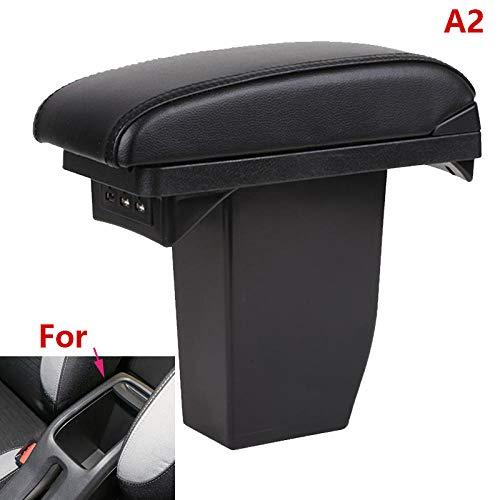 Apto para Peugeot 2008 Caja de reposabrazos Piezas de actualización Caja de almacenamiento central de reposabrazos especial de coche Accesorios de coche Interior especial Con USB-A2_black_black_line