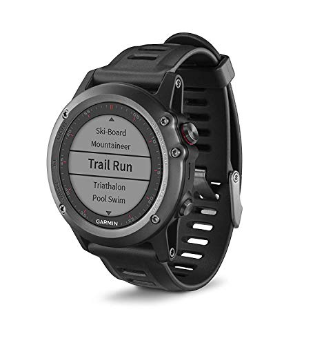 Garmin Fenix 3 - Montre GPS Multisport - Gris avec Bracelet Noir