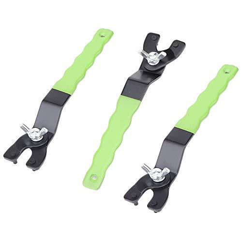 Vegena 3 Stück Winkelschleifer Schraubenschlüssel, Stiftschlüssel für Winkelschleifer, Schraubenschlüssel Verstellbar Reparatur Werkzeug, Universal Winkelschleiferschlüssel mit Rutschfestem