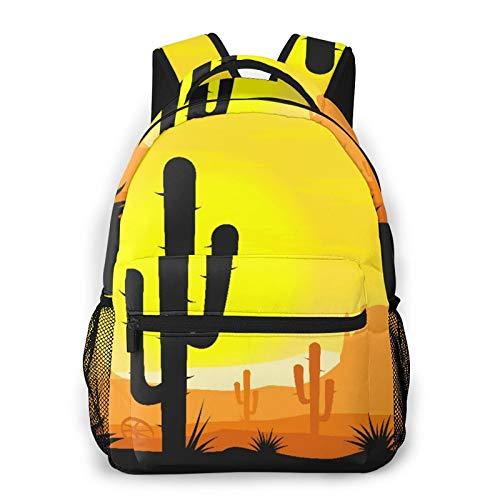 SXCVD Zaino casual,Piante Di Cactus Nel Deserto,Zaino per laptop da lavoro,Zaino da viaggio per escursionismo per uomo,donna,adolescente