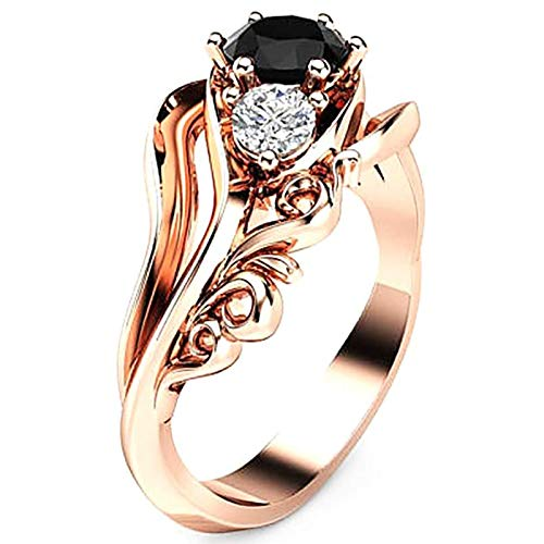 LJWJ Rings Women Ring Girls Accessories,Water Drill Charm Exquisite Jewelry Anniversary Gifts Fashion/Golden/No. 9