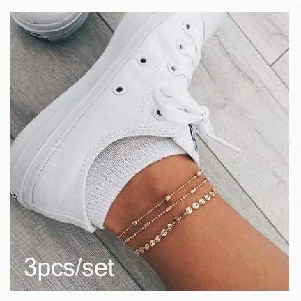 Nynicorny Anklet Bracelets Boho Max 72% OFF Love Bracelet Foot Beads Cheap mail order sales Glitter