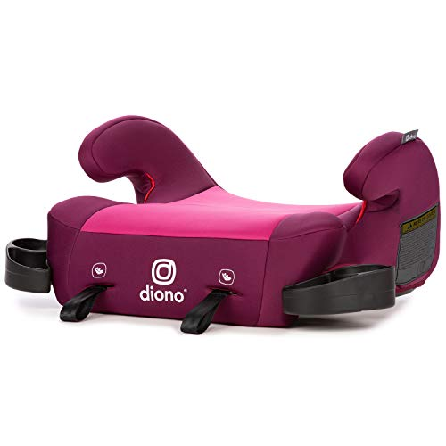 Diono Solana 2 Latch, XL Space Backless Booster Seat, | Lightweight Backless Booster with Room to Grow, 8 Years 1 Booster Seat, Pink