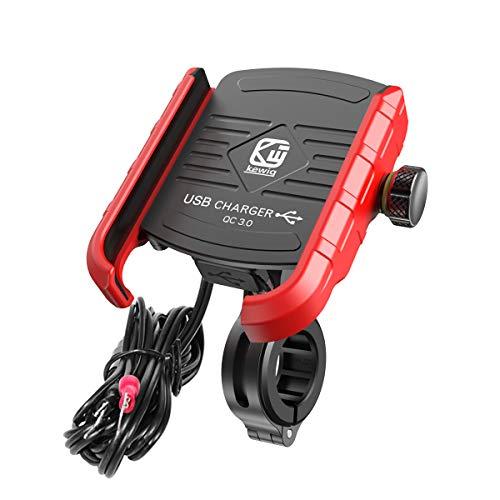 Linghuang Telefon-oplader van aluminiumlegering voor fiets, 360 graden draaibaar, voor smartphones tot 4 tot 7 inch, voor fiets, mountainbike, motorfiets