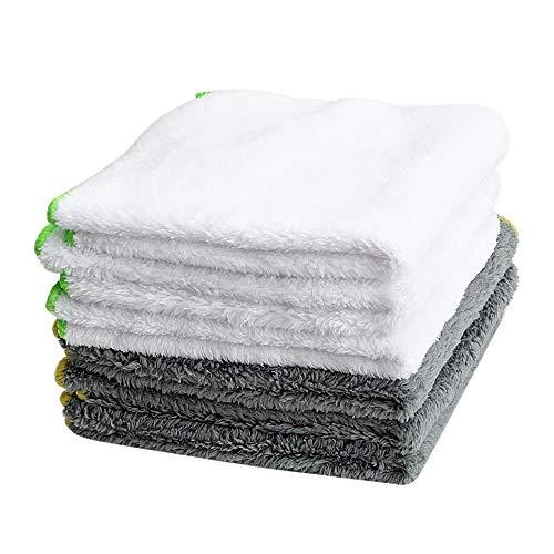 Yangye Coches de Microfibra paño 37 * 37cm Car Wash Towel Útiles de Limpieza Ultra Suave paño de Microfibra for el Coche Cera abrillantadora Auto Care Detallando Coche-Estilo (Color : White)
