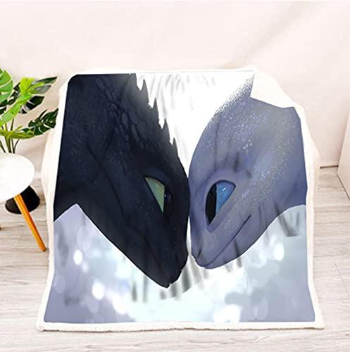 Anime Dragon Decke Dekorative Tagesdecke Fade Resistant Ultra Soft Überwurf Decken für Couch Wohnzimmer Sofa Anime (59.05X86.61in)