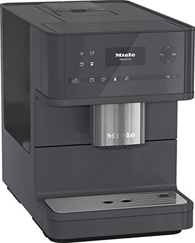 Miele CM 6150 Kaffeevollautomat (OneTouch- und OneTouch for zwei-Zubereitung, vier Genießerprofile, automatische Spülprogramme, komfortable Reinigungsprogramme, Edelstahl-Kegelmahlwerk) graphit-grau