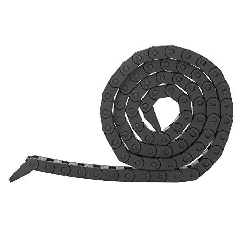 Elprico Catena portacavi, 7 x 7mm Catena portacavi Cavo in plastica Tipo a ponte nero Catena portacavi in nylon per stampante 3D Macchina utensile CNC