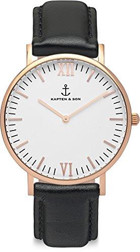 Kapten & Son Unisex-Uhren 36 Schwarz 32005333