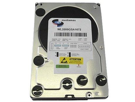White Label 2 Terabyte (2TB) 16MB Cache 7200RPM SATA2 3.5' Internal Desktop Hard Drive (For PC, Mac, CCTV DVR, NAS) - w/ 1 Year Warranty