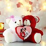 Anita Corporation Marco de fotos personalizado para pareja con 1 foto ideal para regalar a un ser querido (rojo y blanco)
