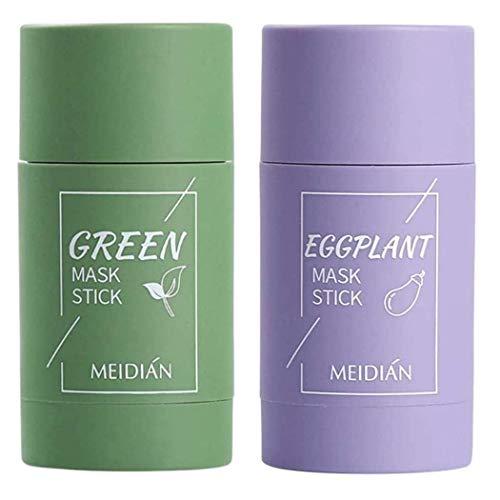 Green Tea Cleansing Mask Stick, Mascarilla Limpiadora Facial de Té Verde en Barra, Facial Cleaning Poros Hidratante de Control de Aceite Anti acné