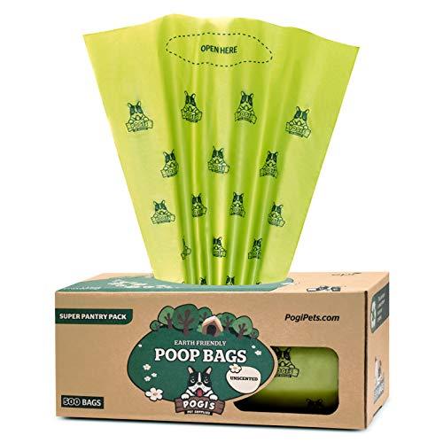 Pogi's Hundekotbeutel - 500 unparfümierte Tüten für Vorräte und öffentliche Hundeklos - große, biologisch abbaubare, tropfsichere Hundetüten (einzelne große Rolle)