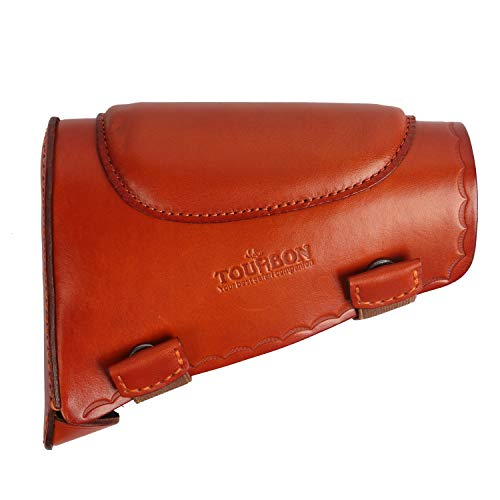 TOURBON Leather Recoil Pad Rifle Shotgun Buttstock Cheek Rest Pad Left Right Handed