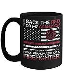 Taza de café del abuelo | Apoye el rojo para mi | Cumpleaños | Navidad | dia de los abuelos | bombero | bombero
