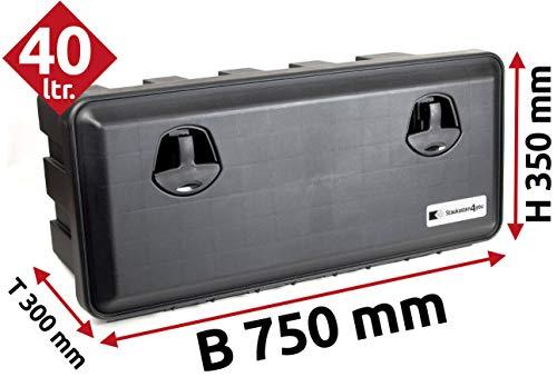 40l Unterbaubox für Nutzfahrzeuge oder Anhänger, Staubox, Werkzeugkiste, Gurtkiste, Deichselbox J1-L