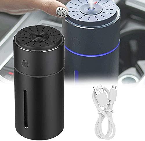 NFRMJMR Umidificatori di diffusore Auto, Portatile USB Diffusori di Olio Essenziali con 7 Colori, PORTATO Luci 800ml Adattatore di Grande capacità per casa, Veicolo, Blu (Color : Black)