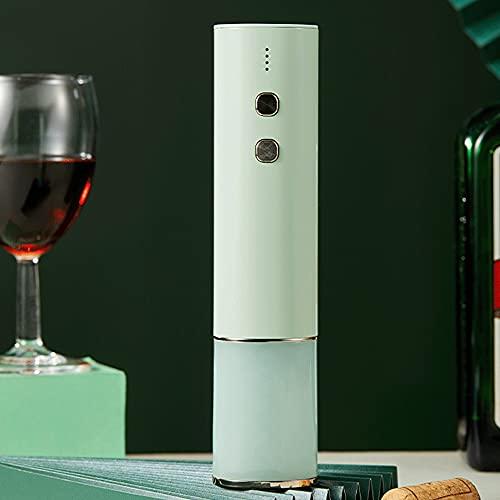 shisipq Mini Abrelatas Automático, Sacacorchos Eléctrico Recargable por USB, Herramientas para Vino, Abrebotellas, Abrebotellas con Fuerza De Mano Débil, Apto para Amantes del Vino como Regalo