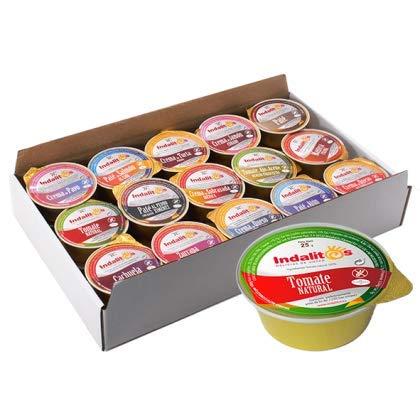 Indalitos - Paté (Tomate natural, Bandeja 30 Monodosis 25gr)