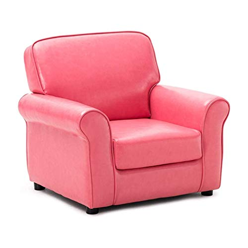 GZQDX Gepolstertes PU-Leder Kinder Lehnstuhl mit Armlehne Kopfstütze überfüllt, Moderne Kinder Reclining Sofa gepolsterter Stuhl for Wohnzimmer Schlafzimmer (Color : A)