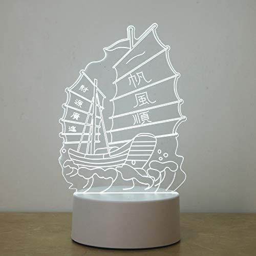 Produits de lumière de nuit créatifs LED3D nuit chambre à coucher lit lampe de table décorative compagnie compagnie, navigation en douceur, bouton interrupteur coloré