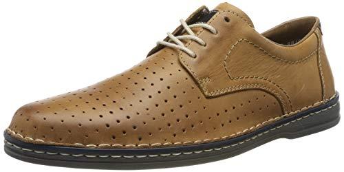 Rieker B6615-25, Zapatos de Cordones Derby Hombre, Marrón (Toffee/Ocean 25), 45 EU