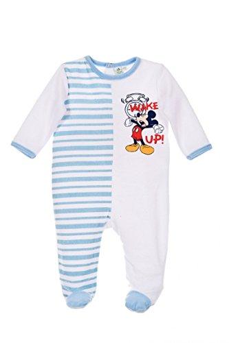 Disney baby Pyjama Mickey Wake Up Blanc/Bleu 18 Mois