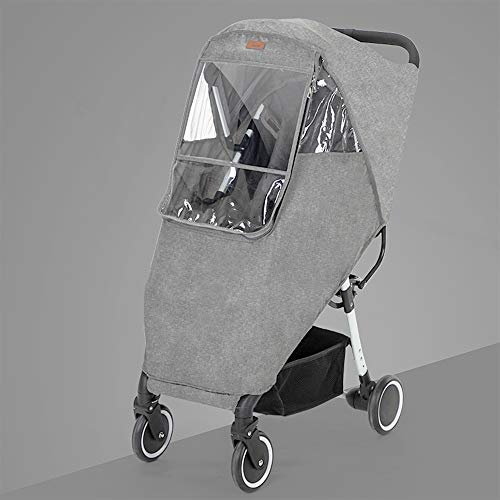 Ipobo Kinderwagen Regenschutz Reise Wetter Schutz Universal mit Luftlöchern EVA-Fenster, für Kinderwagen Zubehör Kinderwagen Regenmantel